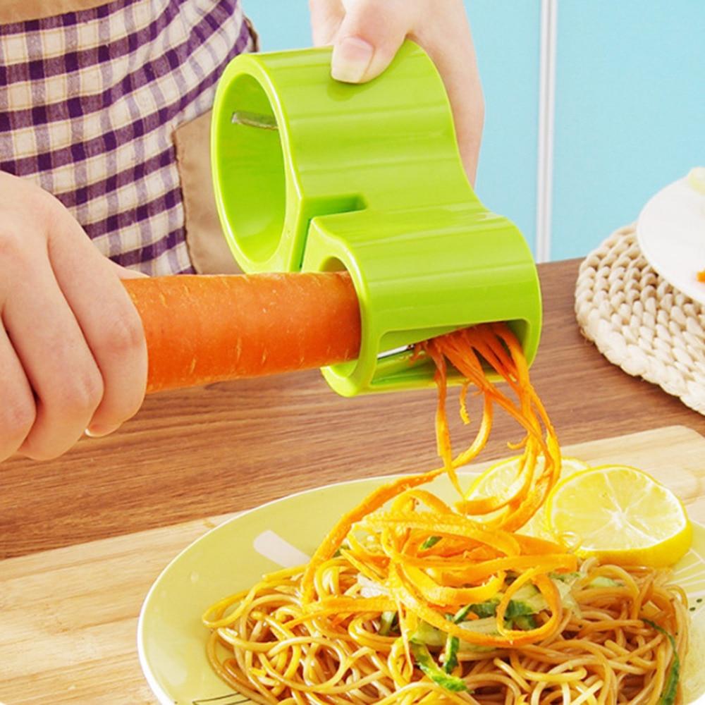 2018 новый премиум Овощной спиральщик, спиральный слайсер, лапша из цуккини Паста спагетти спиральные чайник нож для нарезки соломкой, чистки