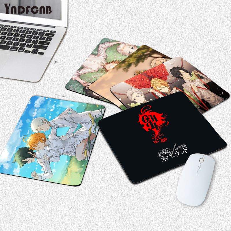 Коврики для мыши YNDFCNB, обещанный Neverland, компьютерный коврик для мыши, гладкий коврик для письма, настольные компьютеры, коврик для игровой мы...