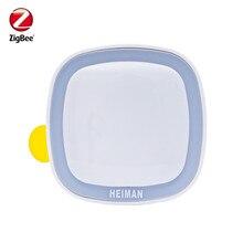 Heiman-capteur de mouvement Zigbee intelligent   PIR, détecteur de mouvement ZigBee, contrôlé par applications SmartZone