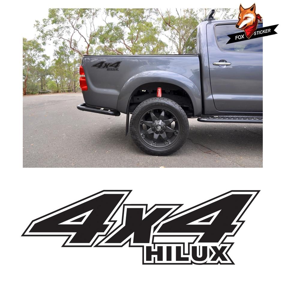 1PCS  Auto Sport Styling Vinyl Car Sticker Off Road Hilux4x4  Body Rear Tail Side Graphic Vinyl for TOYOTA HILUX REVO VIGO