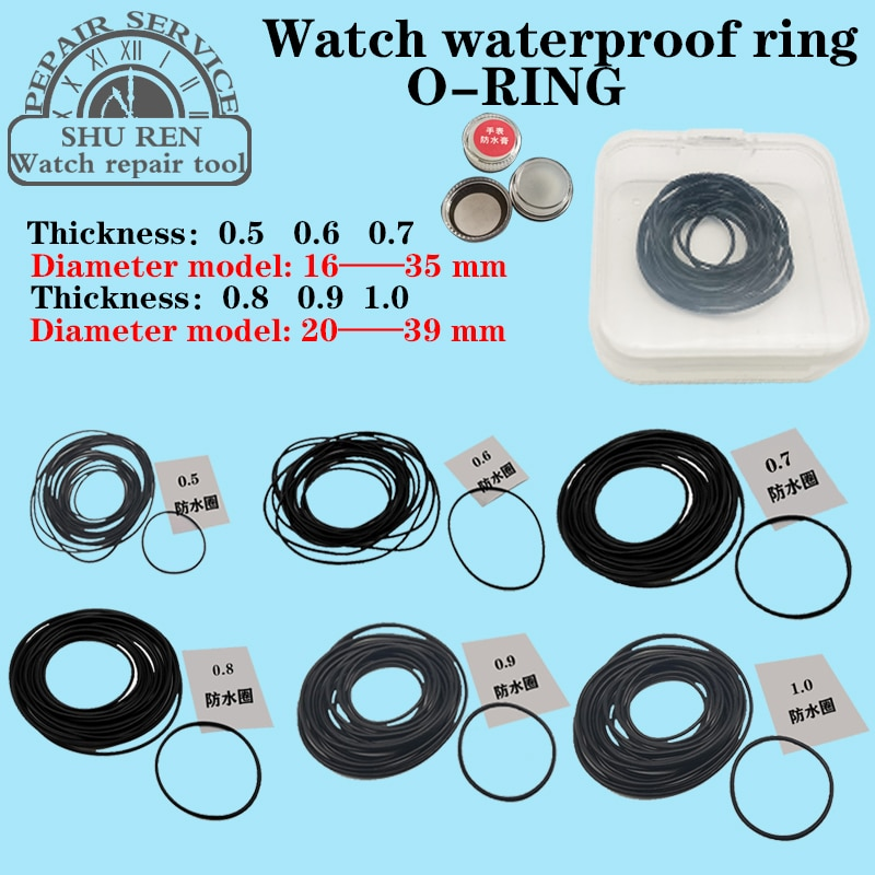 Watch gasket,Thickness 0.5/0.6/0.7/0.8/0.9/1.0mm, watch waterproof ring, O-RING, watch o-ring,o-