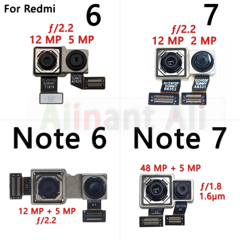 Original Camera Flex For Xiaomi Redmi Note 6 6A 7 7A Pro Plus Main Big Small Front & Back Rear Camer