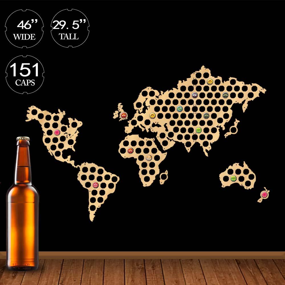 Деревянная карта мира