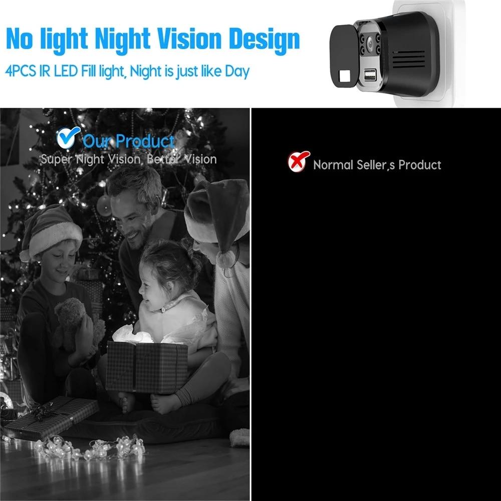 Wifi Camera Secret Phone Charger Mini Baby Camera Monitor Camcorder Night Vision Motion Detect Camcorder 4k IP Cam Micro Camera enlarge