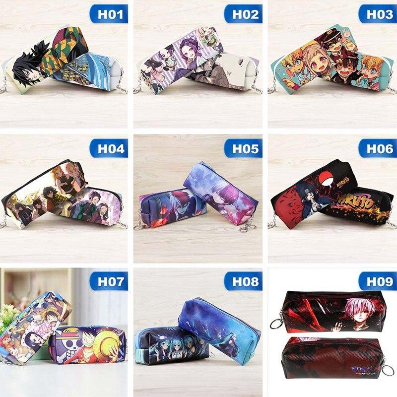 1 Uds. Bolso para plumas de estudiante Hanako-kun Naruto de Anime con váter-Bound, estuche para lápices de gran capacidad, bolsas de almacenamiento de papelería, suministros de aprendizaje