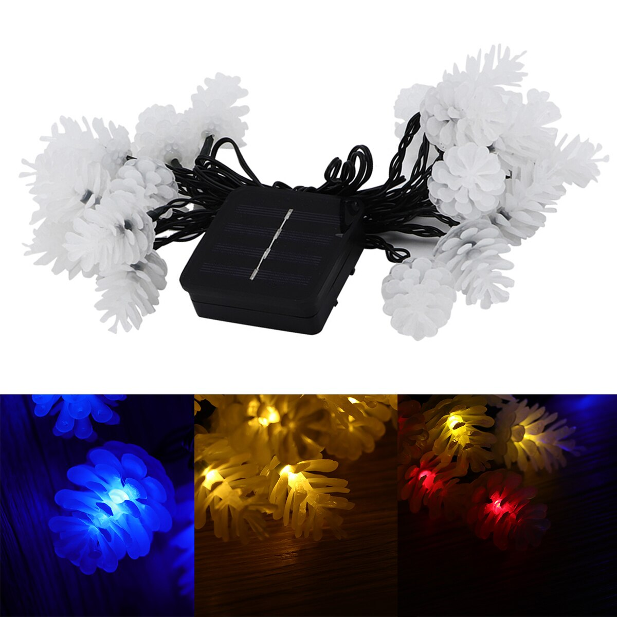 4.8M 20 LED Solar Powered String Light Outdoor Crystal Ball Fairy Lights For Garden Fence Landscape Christmas Decoration