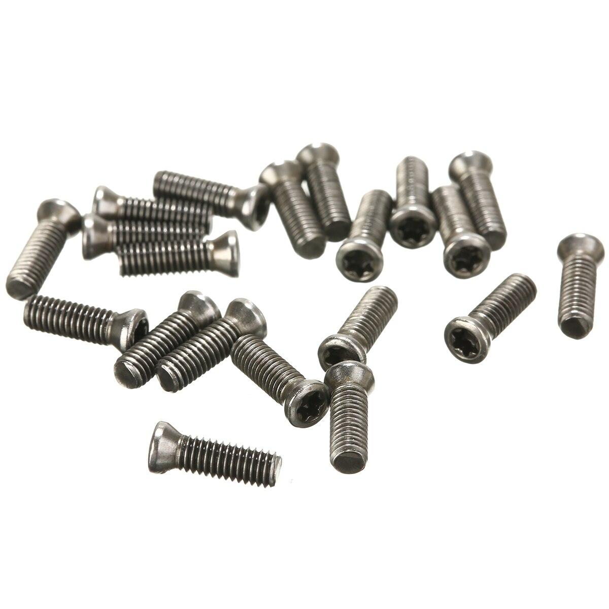 20 pièces M3x10mm CNC insérer Torx vis à tête plate M3 vis pour remplace les Inserts en carbure CNC outil de tour