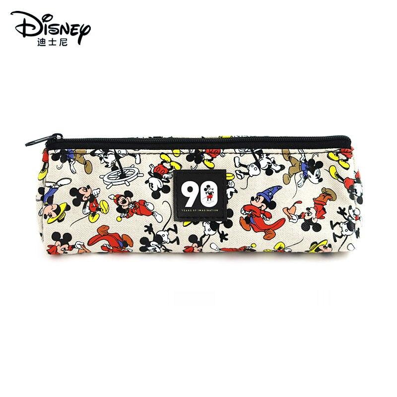 Disney autêntica Mickey Caixa de Lápis Saco De Armazenamento caixa de lápis Bonito Dos Desenhos Animados Pen Bolsa Escola Produtos de papelaria