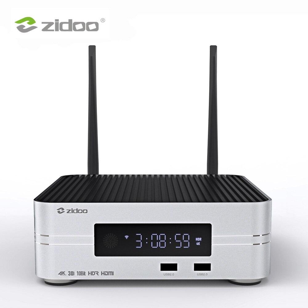 Zidoo Z10 4K HDD медиаплеер до 10 ТБ 2G DDR 16G eMMC Smart TV телеприставка 10 бит UHD автоматическое переключение между SDR и HDR