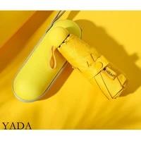 yada 2021 pure high quality 8 bones mini pocket umbrella parasol ins five folding umbrellas rain for womens uv umbrella ys200092