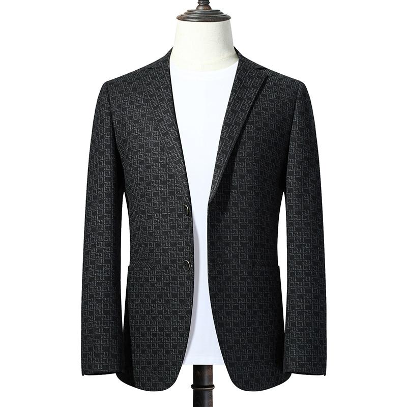 2021 autumn for Men Blazers Single Button Slim Casual Suit Jacket Gray Wedding Business Blazer Masculino Street Wear Social Coat