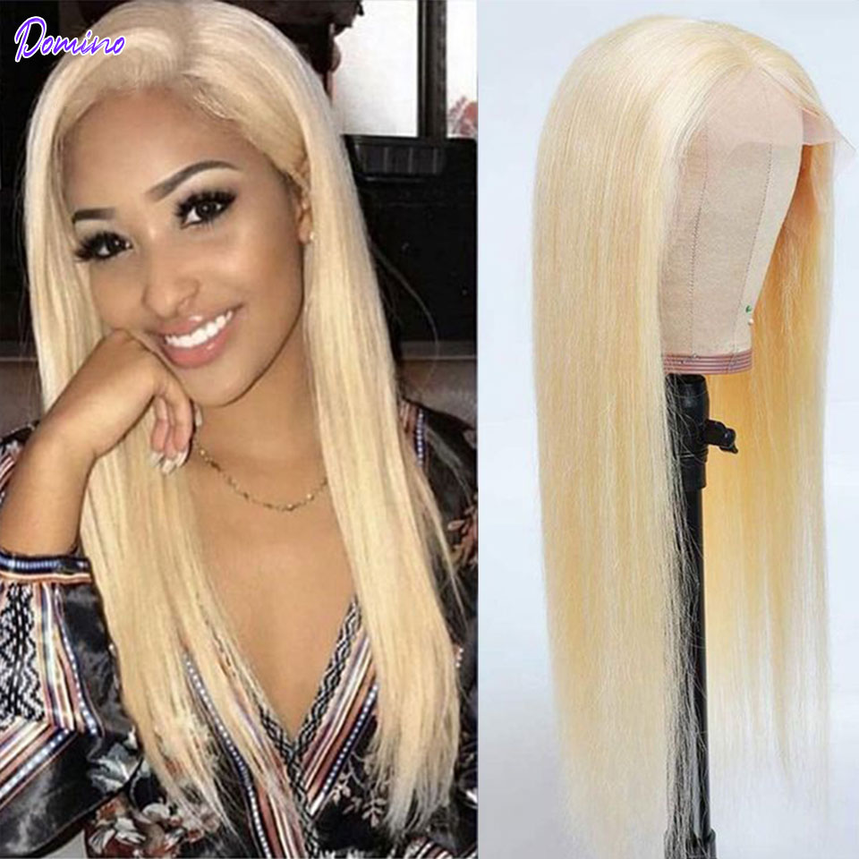 613 Honey Blonde Brazilian Straight 30 Inch Lace Front Human Hair Wigs Closure Wigs T Part Lace Front Frontal Wig Pre Plucked