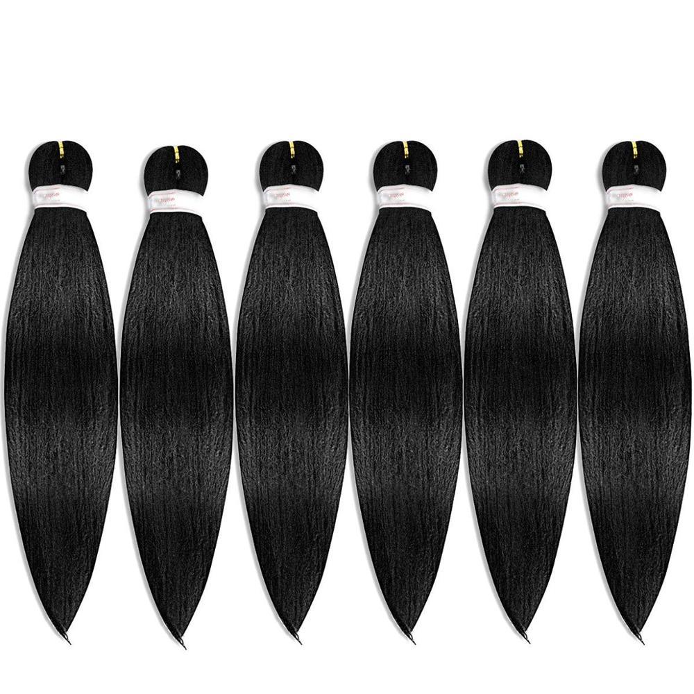Pelo trenzado preestirado, trenza fácil, fibra sintética libre de picaduras profesional, trenza con textura de Yaki, extensiones de cabello