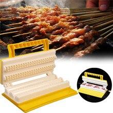 Шнурок для барбекю на открытом воздухе, устройство для прокола овощей, говядины, ягненка, еды, гриля, барбекю, мяса, кухонный гаджет