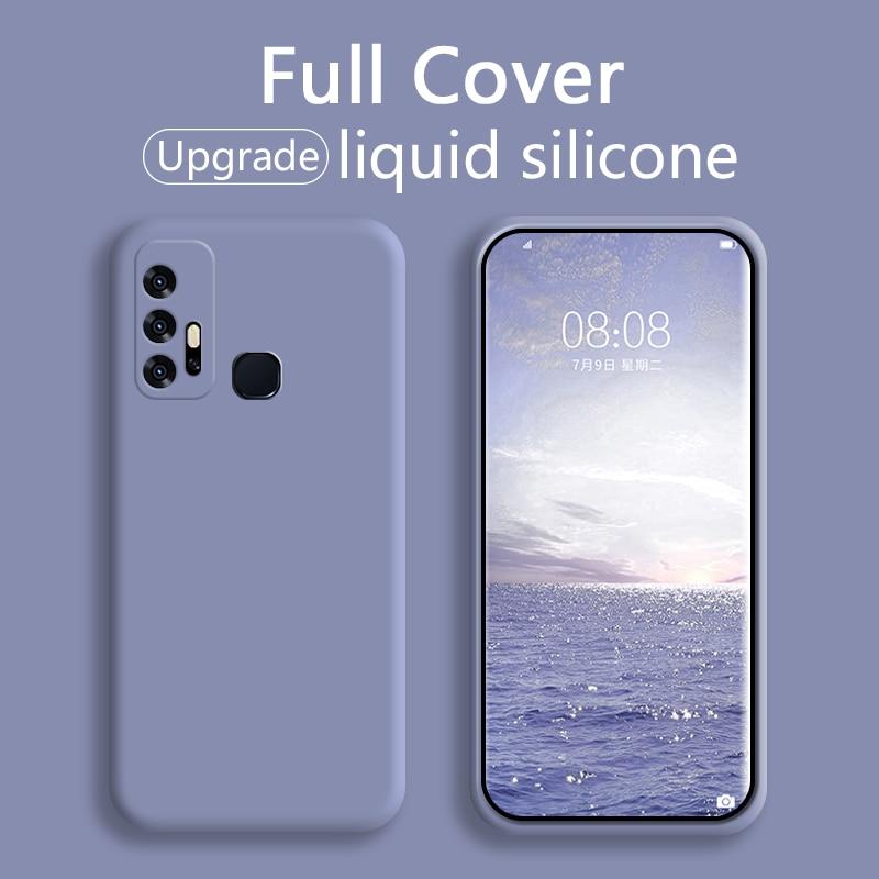 Funda trasera de silicona líquida suave para teléfono móvil 10 Uds para ViVo z3 z6 s1 s1pro nex iqoo z1x iqoo3 neo3 color