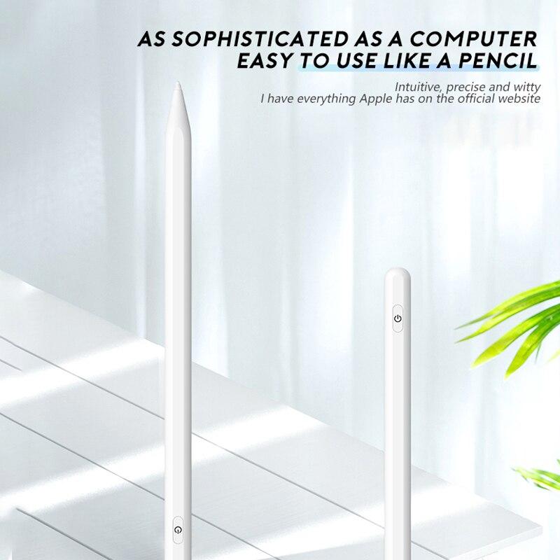 Para stylus apple lápis 2 ipad caneta para ipad 6 7 8 mini 5 ar 3 pro 2018 para ativo stylus ipad pro 11 2020 2018 2019 6th 7th gen