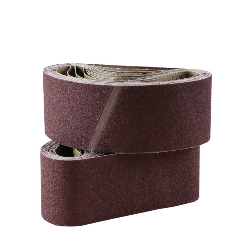 40/60/80/100/120/240 cinta abrasiva de arena 610*100mm banda de lija para lijadora adaptador de lijadora herramientas abrasivas