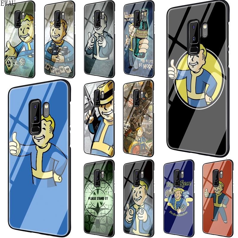 EWAU caída del juego funda de vidrio templado para teléfono para Samsung S7 S8 S9 S10 Nota 8 9 10 plus A10 20 30 40 50 60 70