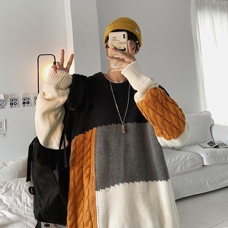 Японский ленивый стиле, свитер на весну-на осень-зиму, в Корейском стиле, модный свободный свитер ins персонализированный свитер