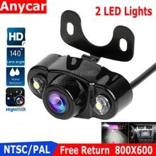 Caméra de recul pour voitures, caméra de recul, universelle 2 Vision nocturne 2020, sauvegarde pour stationnement, étanche, caméra daide au stationnement, nouveauté LED
