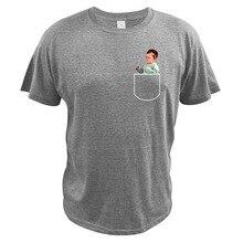 Hasbulla Magomedov Pocket T Shirt Russia Blogger Hasbulla Fighting Meme Short Sleeve Tee 100% Cotton