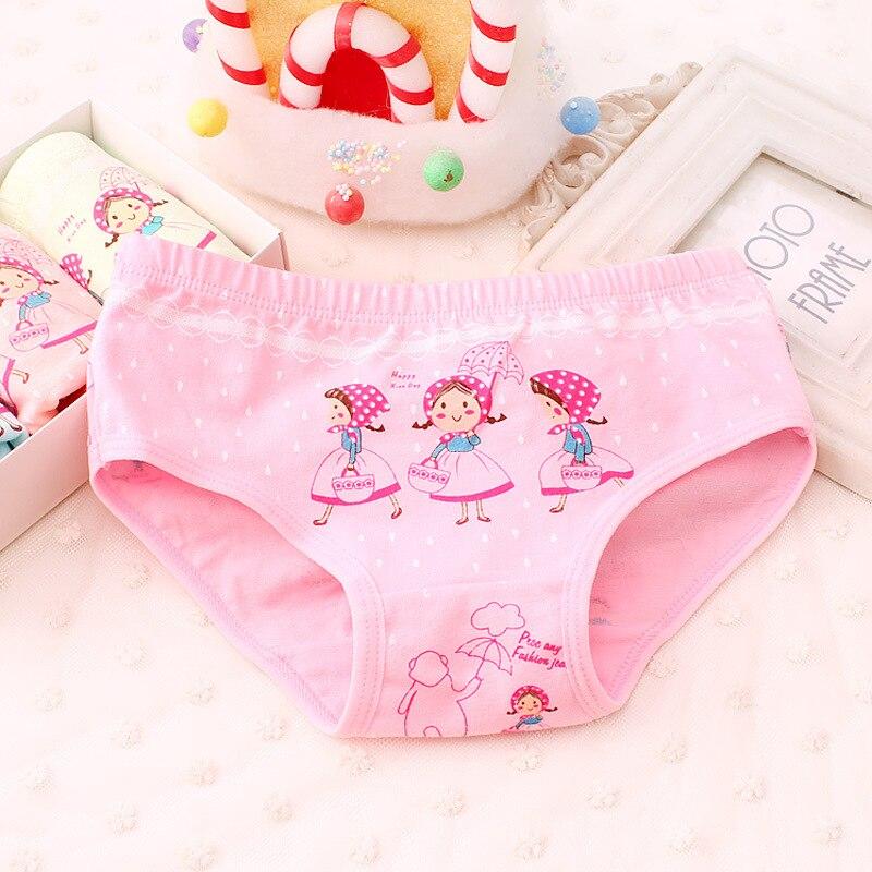 3-10Yrs Child Girls Cotton Panties Kids Cartoon Briefs Underwear For Children Baby Underpants