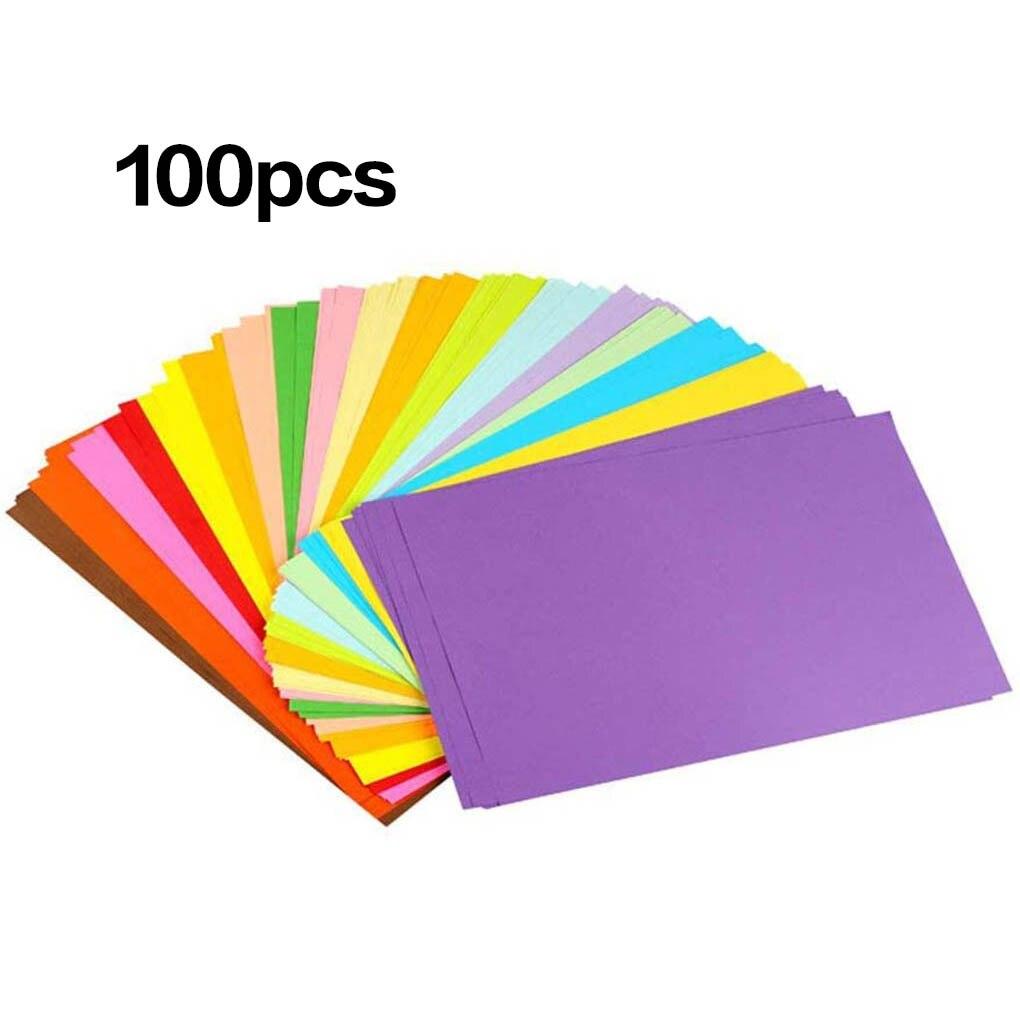 100 шт. цветная копировальная бумага А4, декоративная бумага для рукоделия, 10 разных цветов