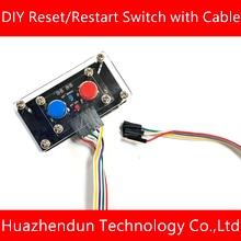DIY Desktop-Computer Power Schalter Kabel Taste Power Reset-Taste Neustart LED Power Adpter 50cm 100cm 200cm kabel