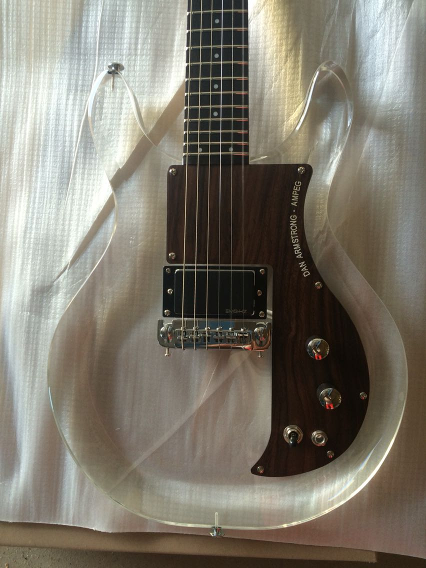 Free delivery / acrylic guitar rosewood guard high end production / China Electric Guitar enlarge