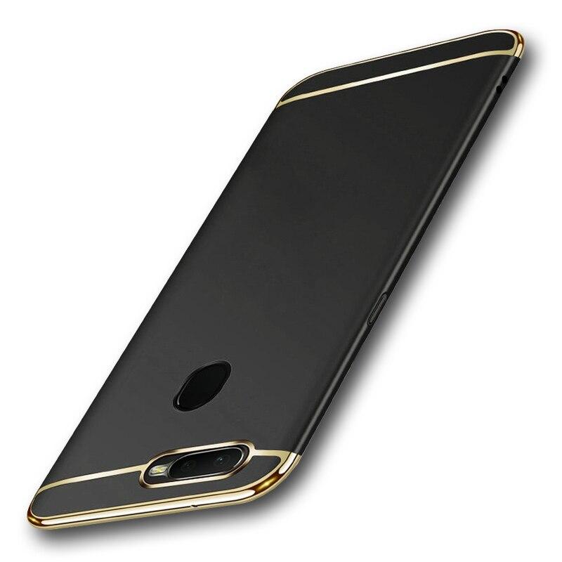 Para oppo a5s ax5s capa de luxo 3 em 1 magro matte duro de volta casos escudo para oppo a5s cph1909 a 5S oppoa5s oppo ax5s
