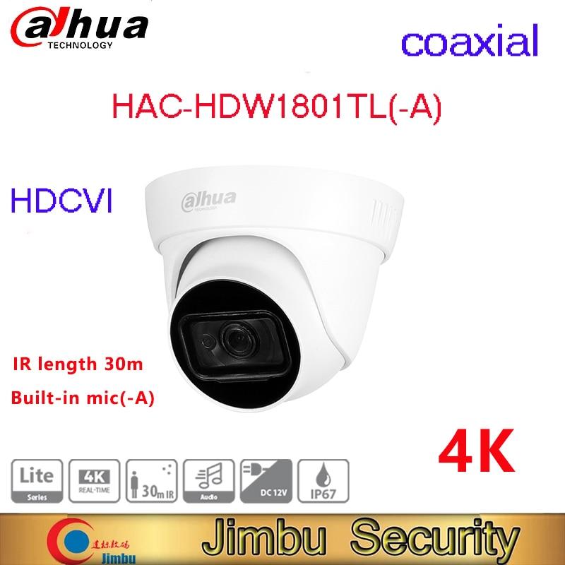 داهوا HDCVI 8MP HAC-HDW1800TL-A 4K في الوقت الحقيقي HDCVI الأشعة تحت الحمراء مقلة العين التناظرية محوري كاميرات فيديو للأمن المنزلي كاميرا صغيرة