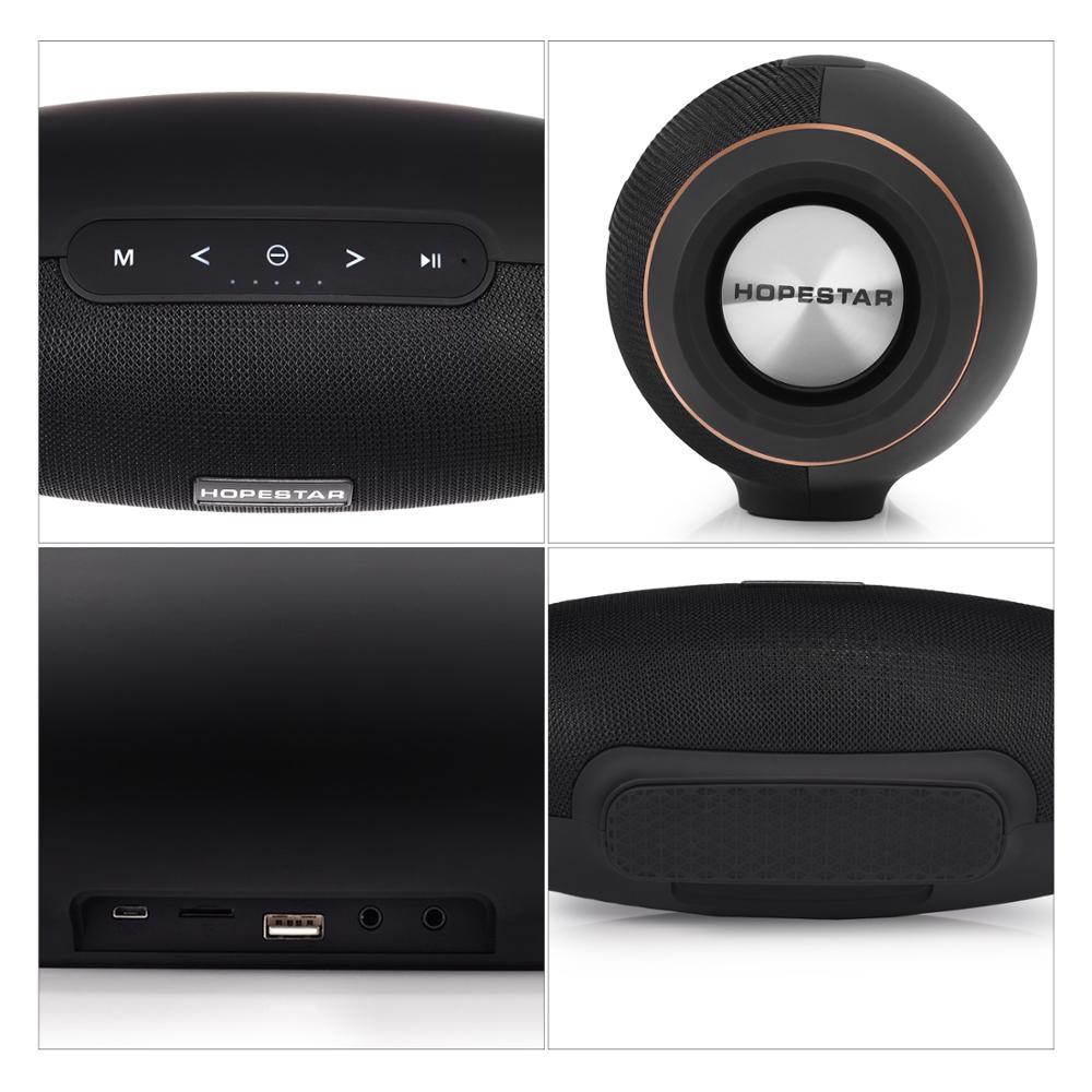 Hopestar H20 Draadloze Draagbare Bluetooth Speaker 30W Waterdichte Beste Bass Outdoor Effect Met Power Bank Usb Mobiele Aux Estg enlarge