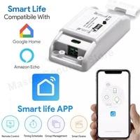 Tuya     interrupteur Wifi  telecommande sans fil  domotique intelligente  Module relais  controleur  fonctionne avec Alexa Google Assistant