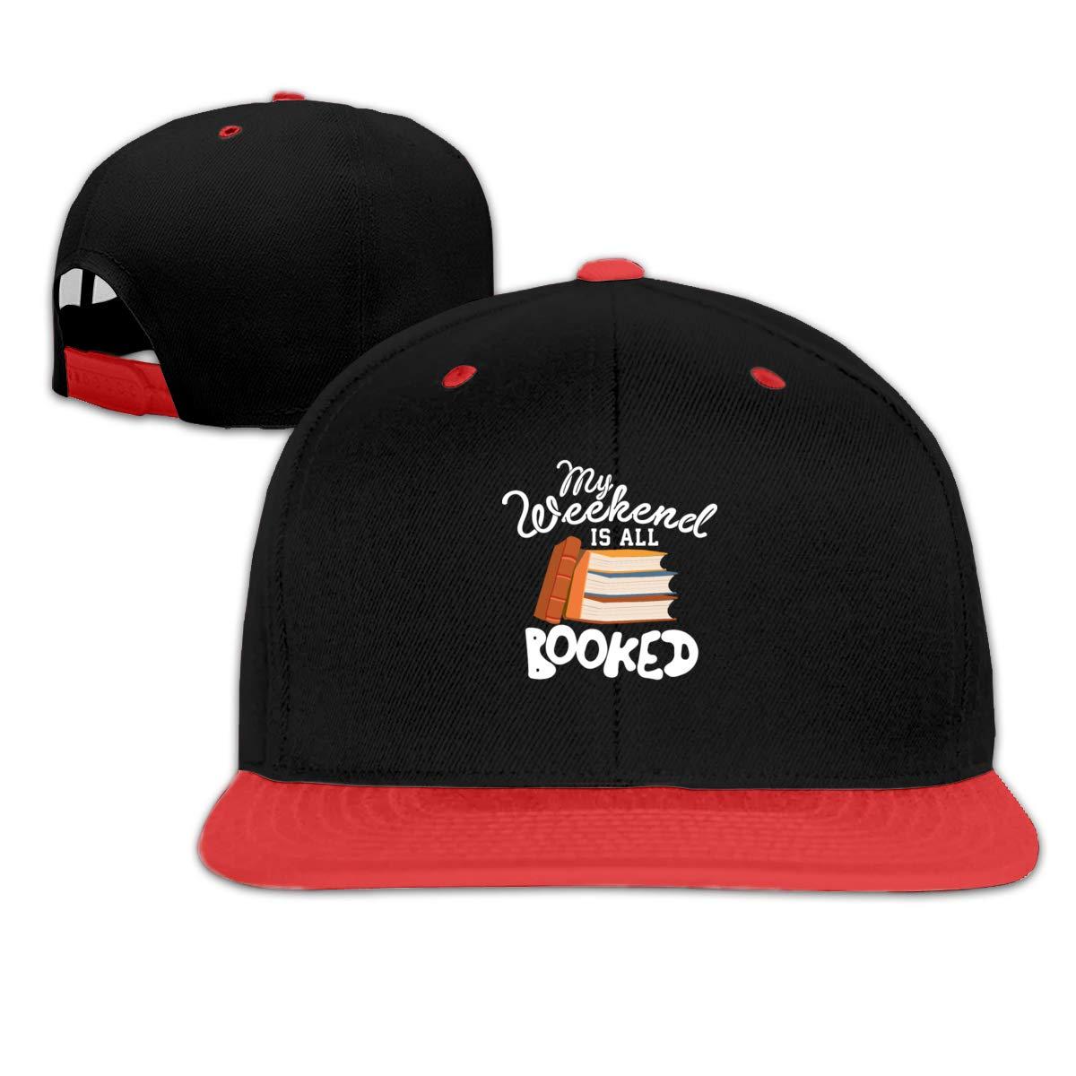 My Weekend is All Booked Adjustable Kid Hip Hop Baseball Cap Sun Hats Boy Girl Red