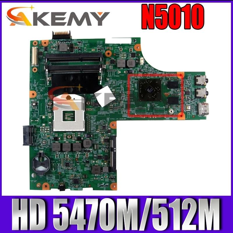 Akemy لأجهزة الكمبيوتر المحمول DELL Inspiron N5010 اللوحة الأم CN-0VX53T VX53T 48.4HH01.011 HM57 HD 5470M/512M اللوحة الأم للكمبيوتر المحمول