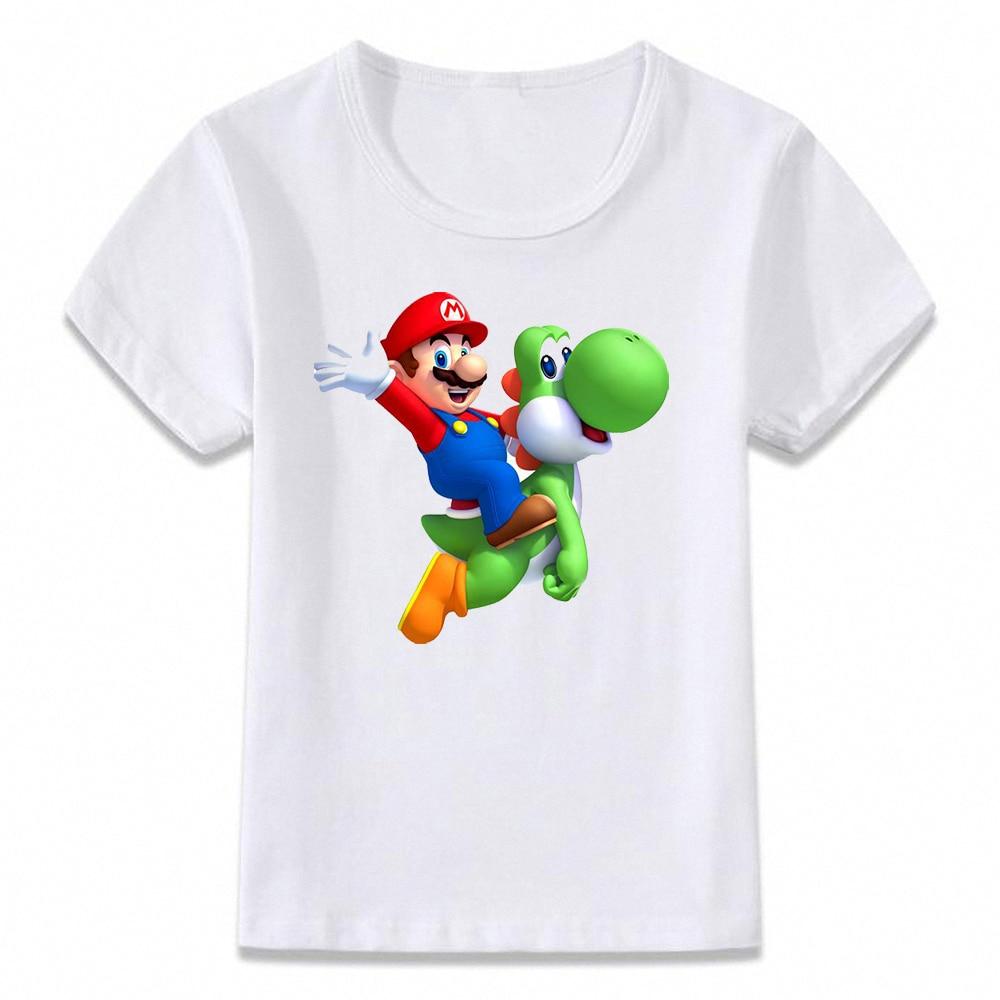 Ropa para niños, camiseta bonita y divertida de Mario y Yoshi, camiseta para niños y niñas, camisetas para niños pequeños