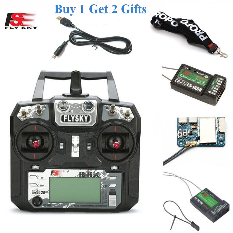 FLYSKY FS-i6X i6X 2.4G 10CH AFHDS 2A Radio Transmitter with X6B/iA6B/A8S/iA10B/iA6 Receiver for RC A