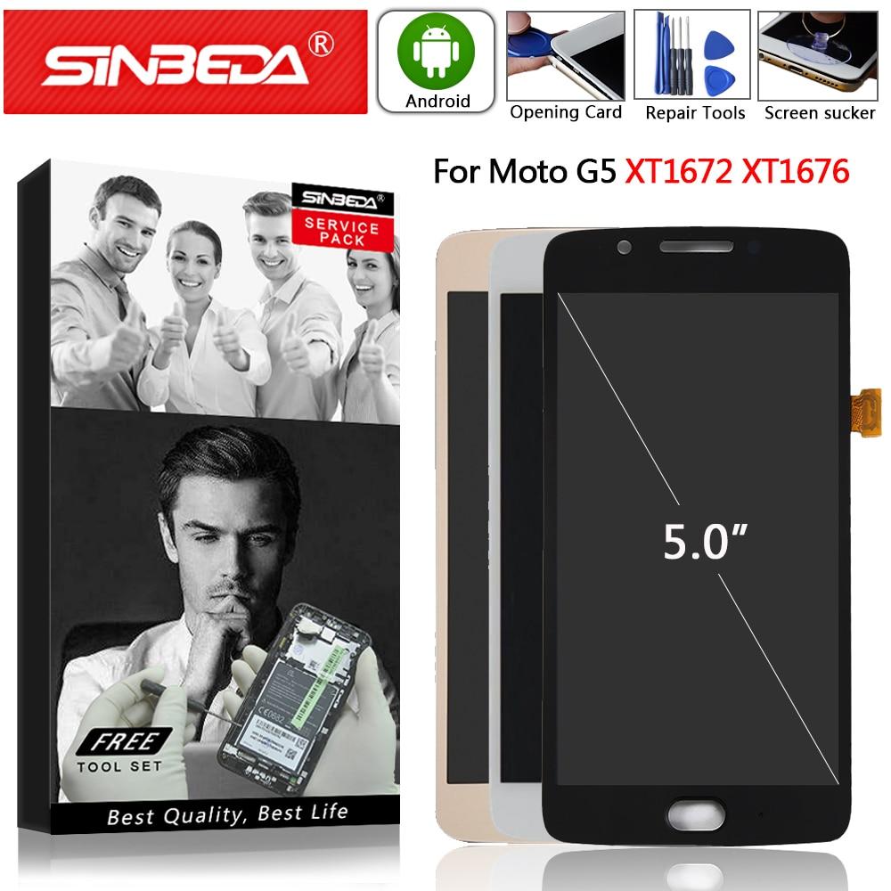 Original For Motorola Moto G5 XT1672 XT1676 LCD Display Touch Screen Digitizer with Frame For MOTO G5 LCD Screen Assemble XT1670