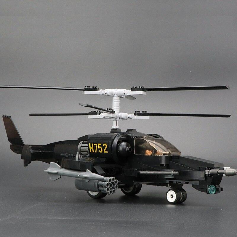 Helicópteros gunship soldados moc diy armas militares playmobil brinquedos figuras bloco de construção tijolo original mini brinquedos