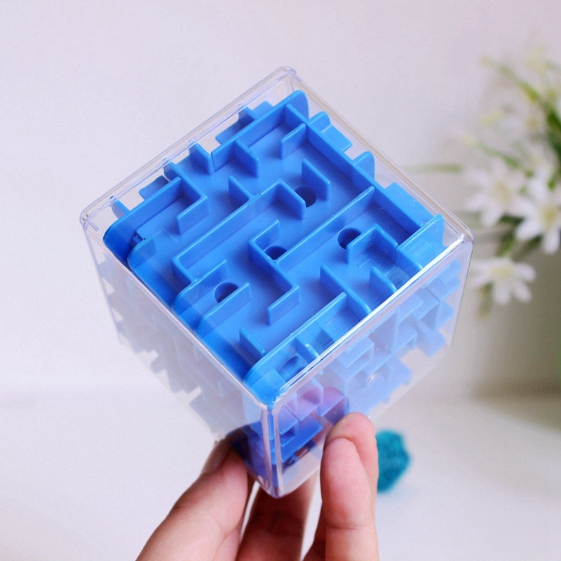 3D Speed Cube Maze Magic Cube Puzzle Game Labyrinth Rolling Ball Brain Learning Balance Educational Toys For Children Adult