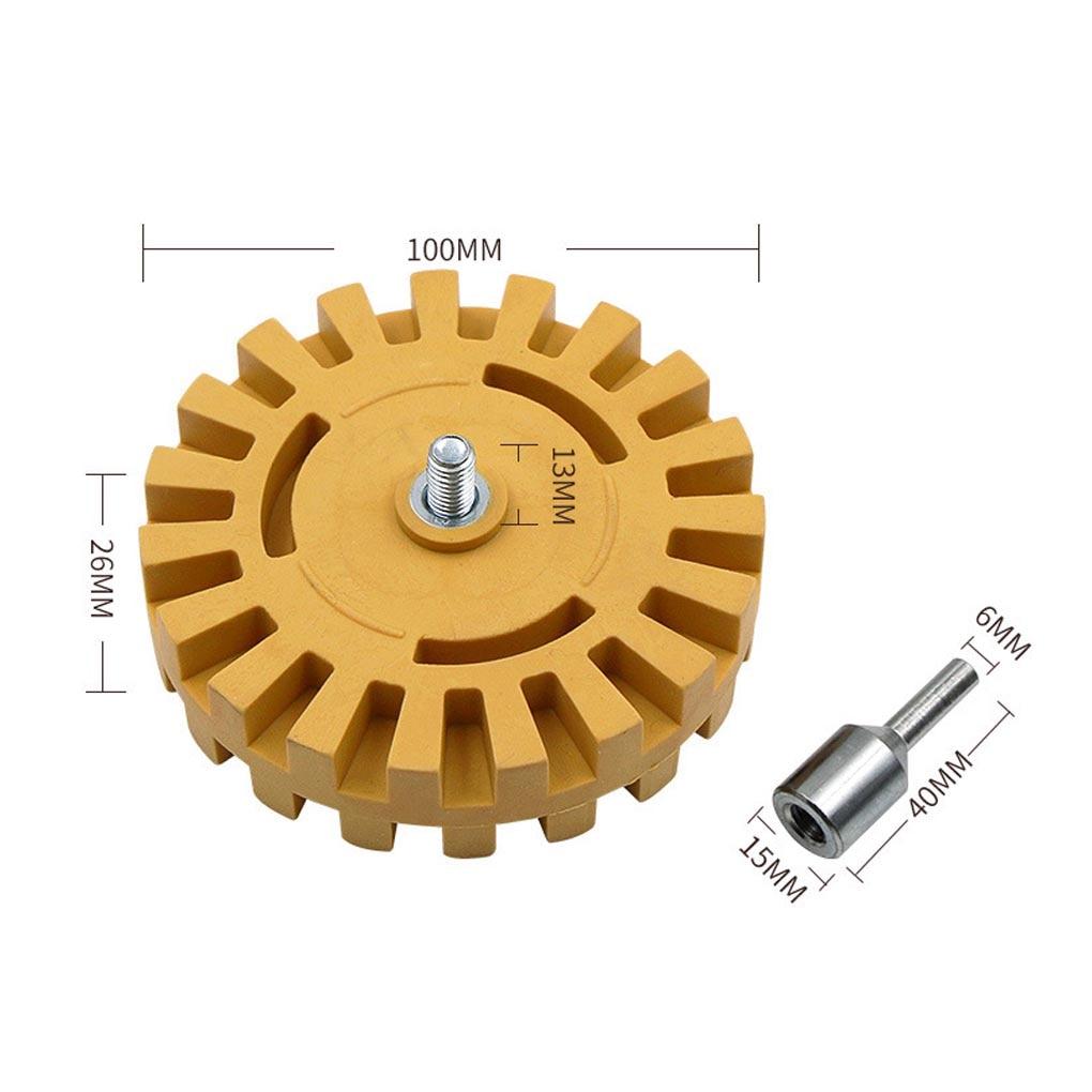 Купить с кэшбэком 4-inch Eraser Tape Glue Removal Wheel Pinstripe Removing Household electric drill pneumatic drill rubber Tire Polishing Tool
