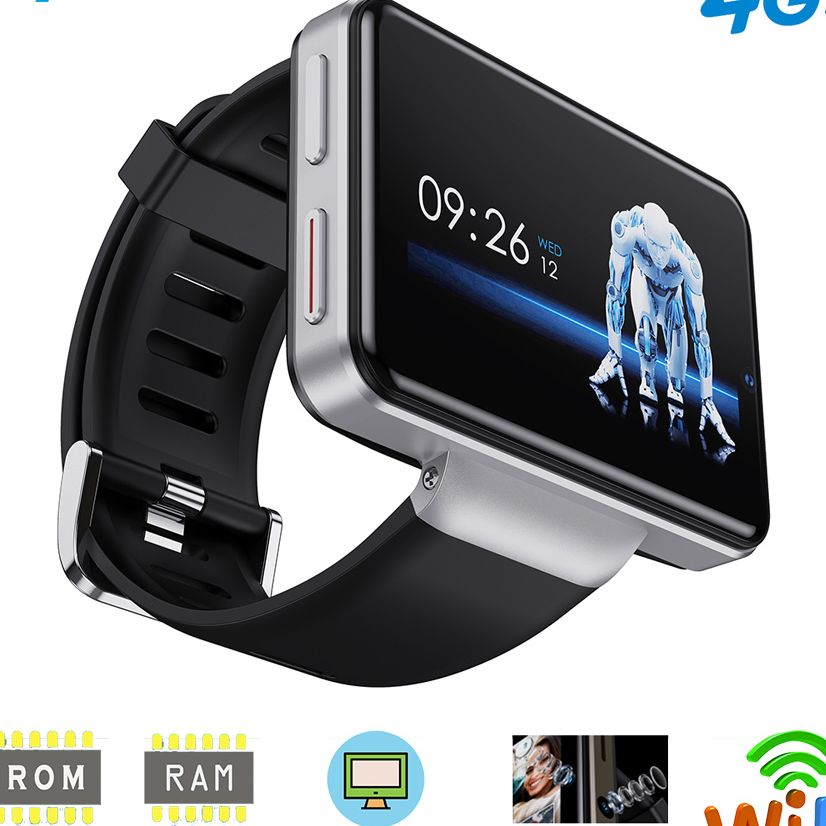 Get DM101 Max S 4G Android Smart Watch For Men 2.4″ Display Face ID 2000mAh 3GB 32GB 8MP Dual Camera GPS Bluetooth Smartwatch 2020
