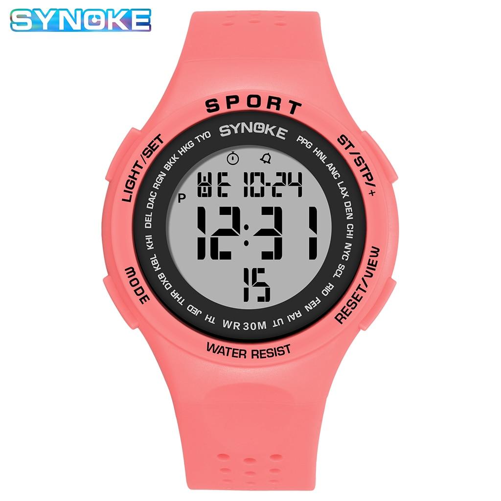 SYNOKE Women's Watches 30M Waterproof Ultralight Large Dial LED Electronic Clock Sports Watch Men St