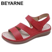 BEYARNE 2020, zapatos de verano para mujer, sandalias de playa retro para mujer, sandalias ligeras cómodas con cabeza redonda, zapatos informales para mujer
