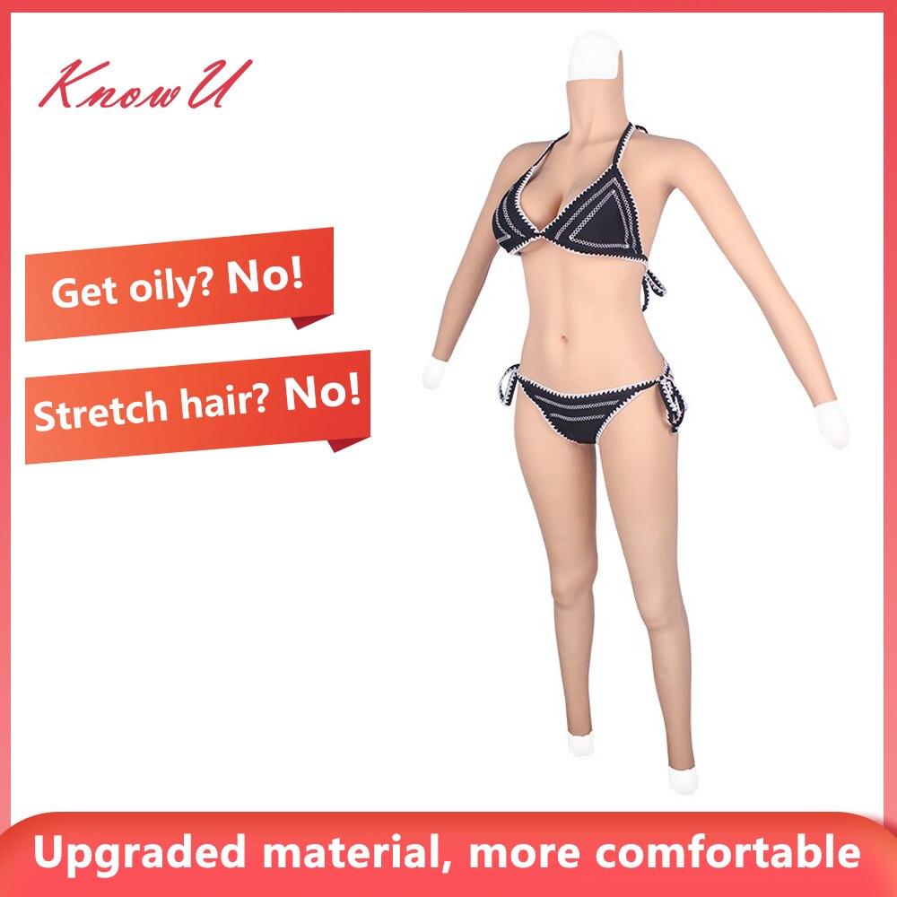KnowU-بدلة جسم سيليكون ، شكل ثدي على شكل D ، ملكة السحب والمتحولين جنسيا