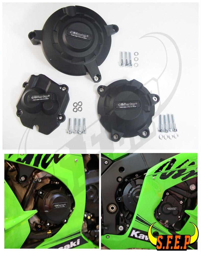 Motorcycle Engine Case Guard Protector Cover GB Racing For Kawasaki Ninja ZX-10R ZX10R 2011-2020 12 13 14 15 16 17 2018 2019