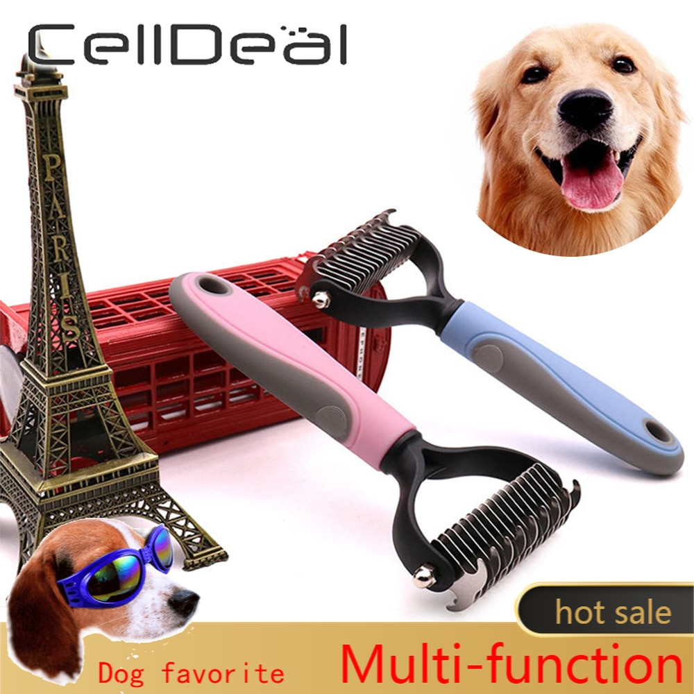 Hair Removal Comb for Dogs Cat Detangler Fur Trimming Dematting Deshedding Brush Grooming Tool For m