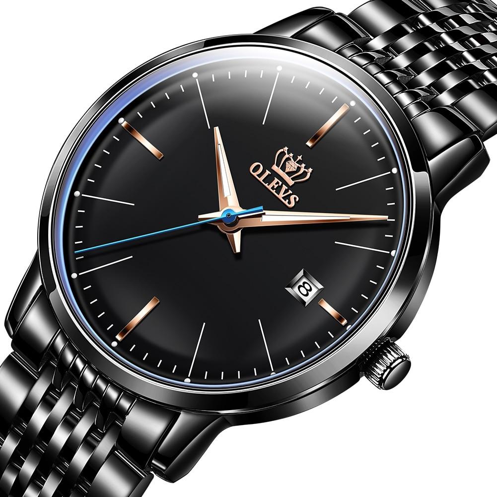 OLEVS-ساعة ميكانيكية للرجال ، أوتوماتيكية ، ميكانيكية ، من الفولاذ المقاوم للصدأ ، حركة يابانية ، فستان فاخر ، لرجال الأعمال ، مجموعة جديدة