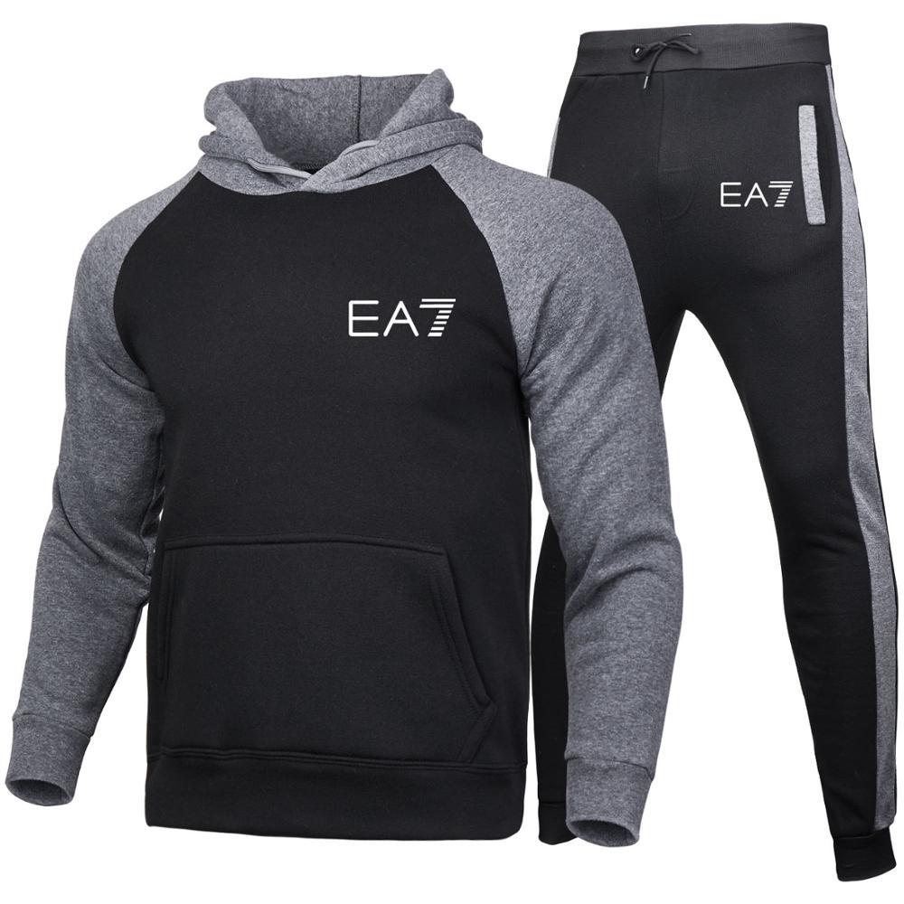 New Autumn Men's Sets hoodies+Pants Harajuku Sport Suits Casual Men/Women Sweatshirts Tracksuit 2020 Brand Sportswear