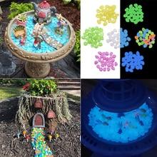 Pierres lumineuses de galets noirs 25/  Scintillants, Aquarium, cour, jardin, passerelle, décoration de la maison, pierres scintillantes, artisanat de bricolage